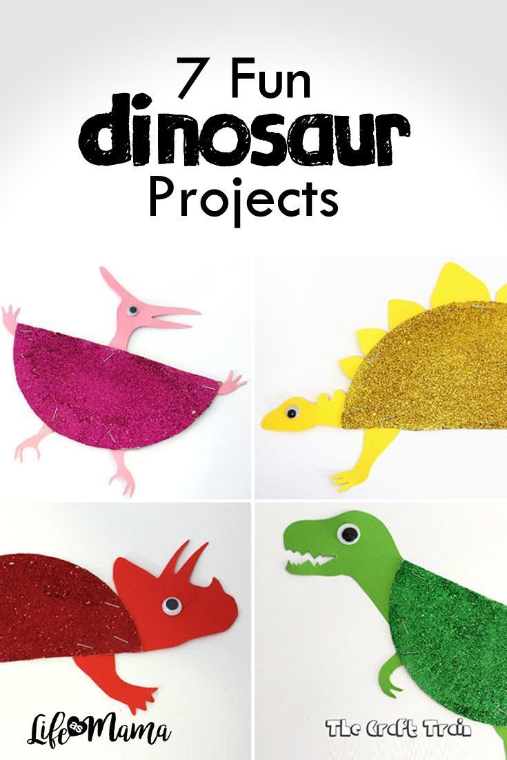 7 Fun Dinosaur Projects Dinosaur Projects Dinosaur Crafts Kids Dinosaur Crafts