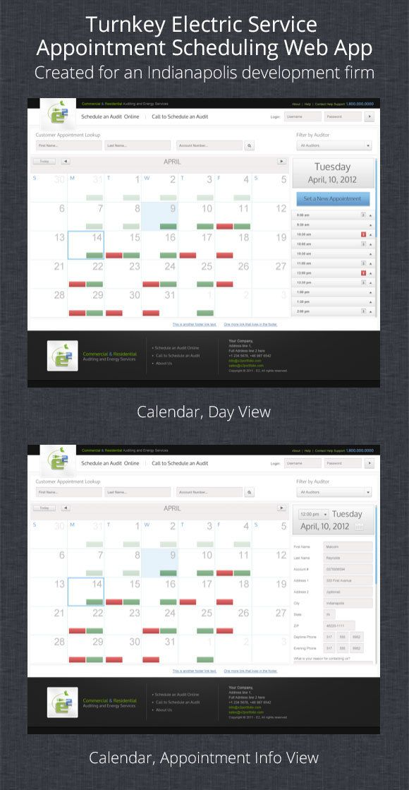 Turnkey Service Appointment Scheduling Web App on Behance
