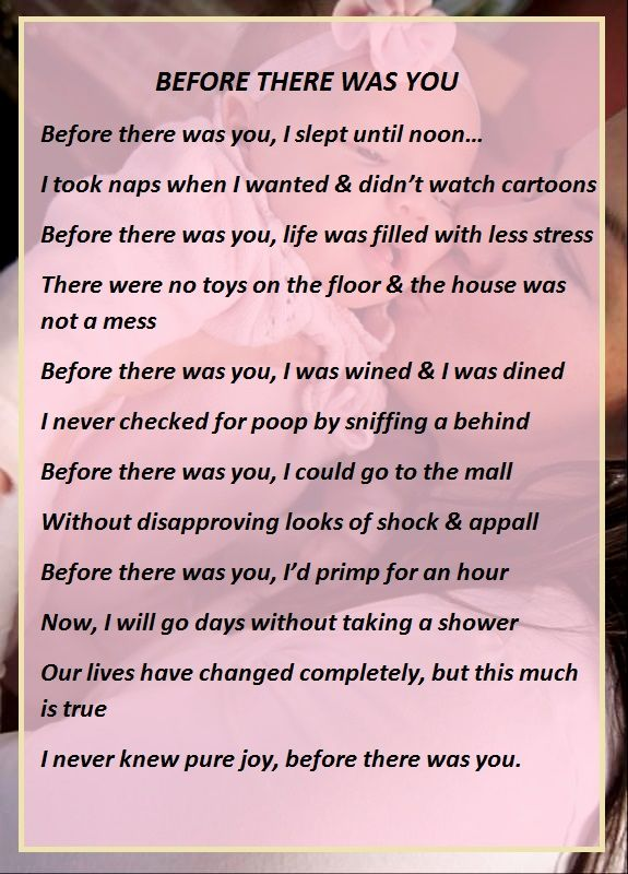 Before There Was You A Mommys Poem Surviving Pregnancy