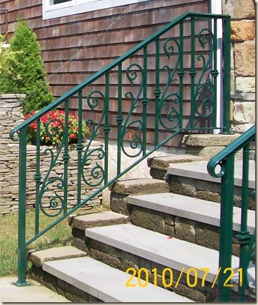 Rod Iron Railing For Outside Steps   Google Search