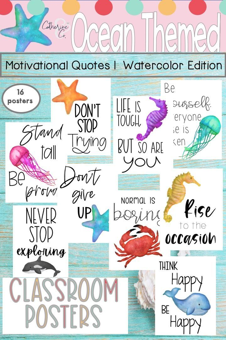 Under the Sea Classroom Posters