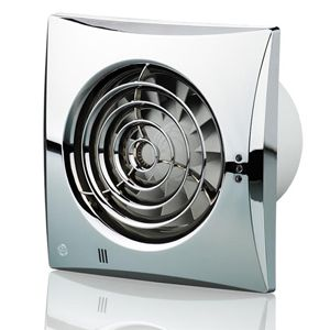 Blauberg Calm Quiet Silent Extractor Fan 100mm Chrome Blau