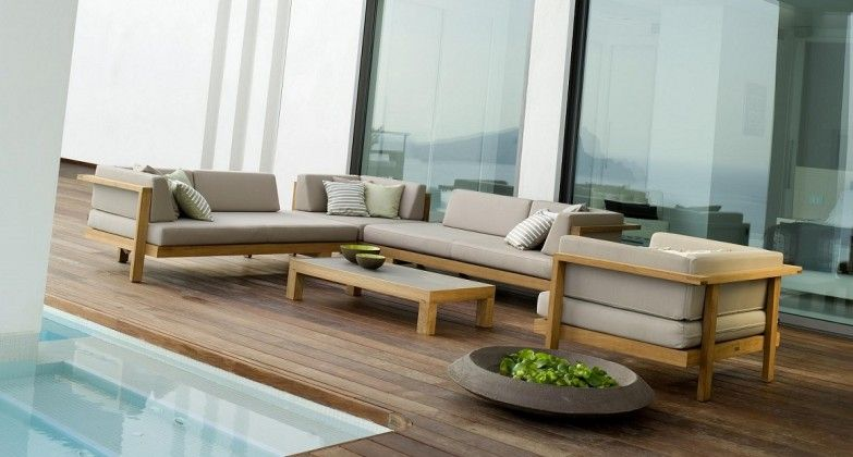 This collection is made up of thick luxurious cushions and