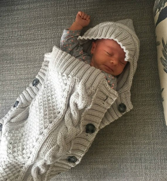 BABY COCOON Knitting Pattern - Sweet Snuggle Baby Cocoon pdf pattern ...