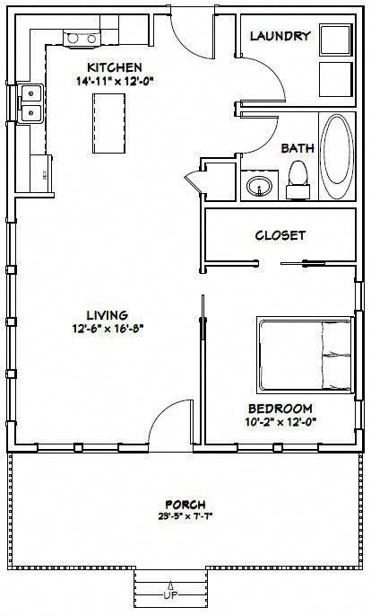 24x30 House 24x30h2e 720 Sq Ft Excellent Floor Plans Shedplans Garage House Plans House Plans House Floor Plans