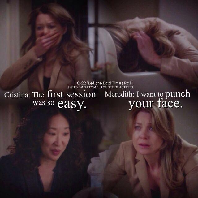 Meredith and Cristina | greys anatomy | Pinterest