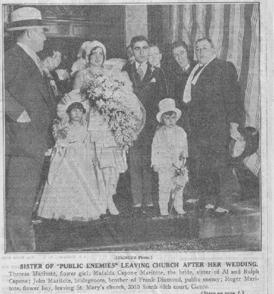 c55b27c0975 Capone s sister s wedding Chicago Outfit