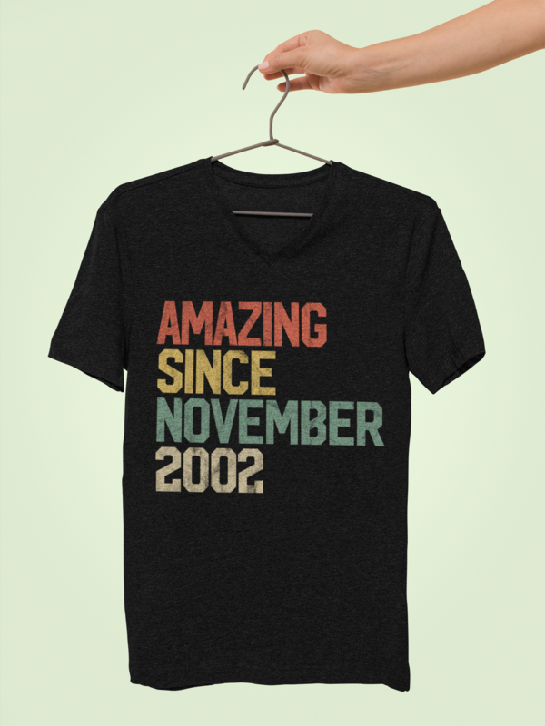 Amazing Since November 2002 T-Shirt 17th Birthday Gift #17thbirthday