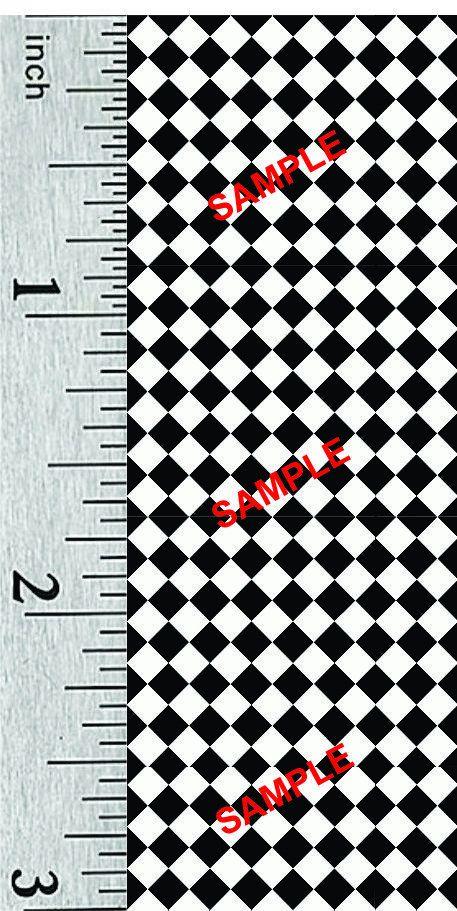 Quarter Scale and 1:44 Scale Miniature Victorian Dollhouse Tile Flooring (302D) #victoriandollhouse