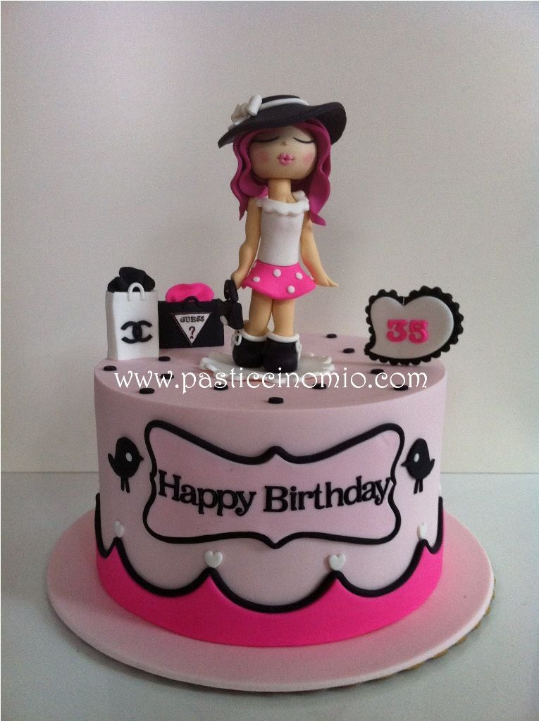 Fashion Girl Cake Cakes Cake Birthday Cake Birthday