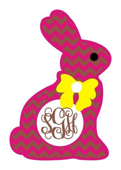 Chevron Chocolate Easter Bunny Monogram Frame SVG   SVG's ...
