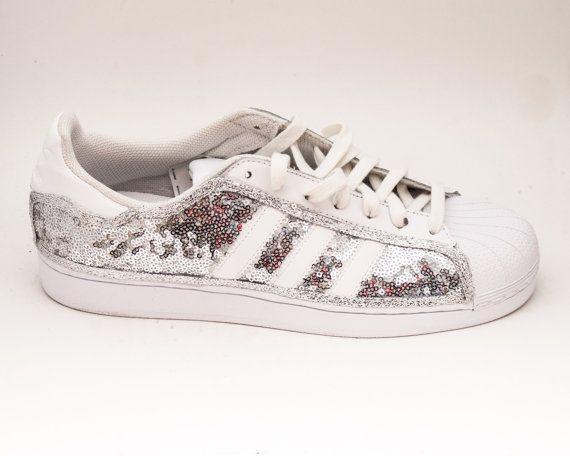 Tiny Sequin Starlight Sterling Silver Adidas Superstars II