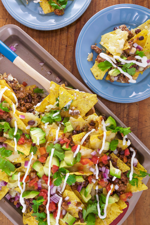 Kitchen Sink Nachos Tacos And Salsa Food Network Recipes Yummy