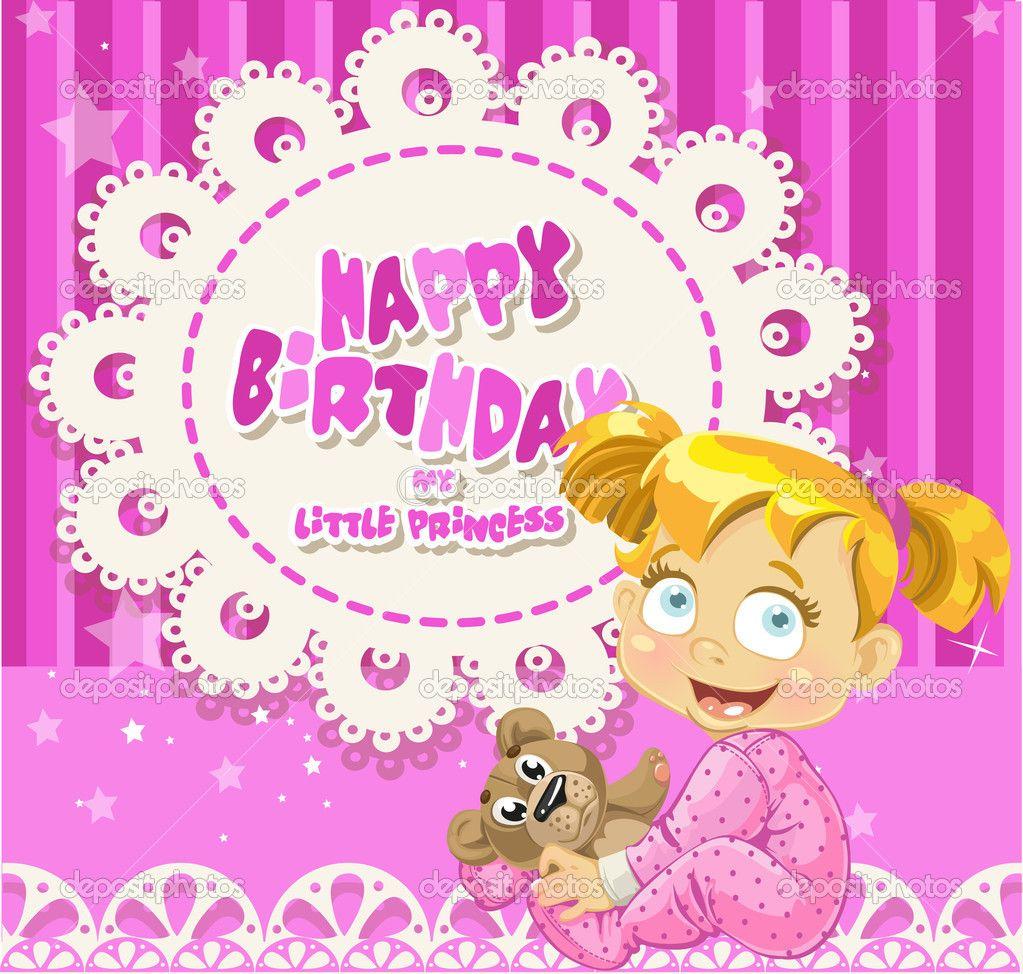 Happy Birthday Cards For Girls My Birthday Pinterest – Little Girl Birthday Cards