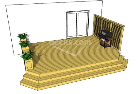 Possible Deck Plans 2 - like the bench and planter boxes. Don\'t ...