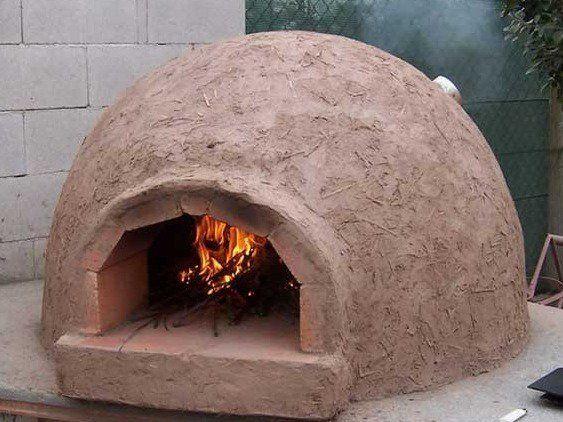 Construir tu propio horno de barro casero todos los pasos barro horno y el paso - Como cocinar en un horno de lena ...