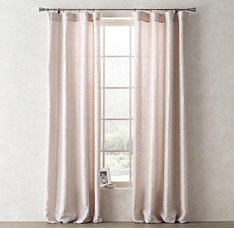 room metallic opaque linen drapery collection rh teen