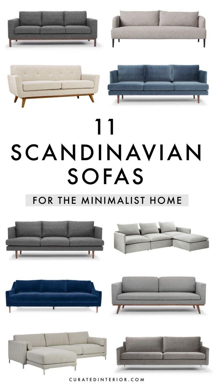 11 Minimalist Scandinavian Sofas In Gray Beige Blue Scandinavian Sofas Minimalist Sofa Scandinavian Furniture Design