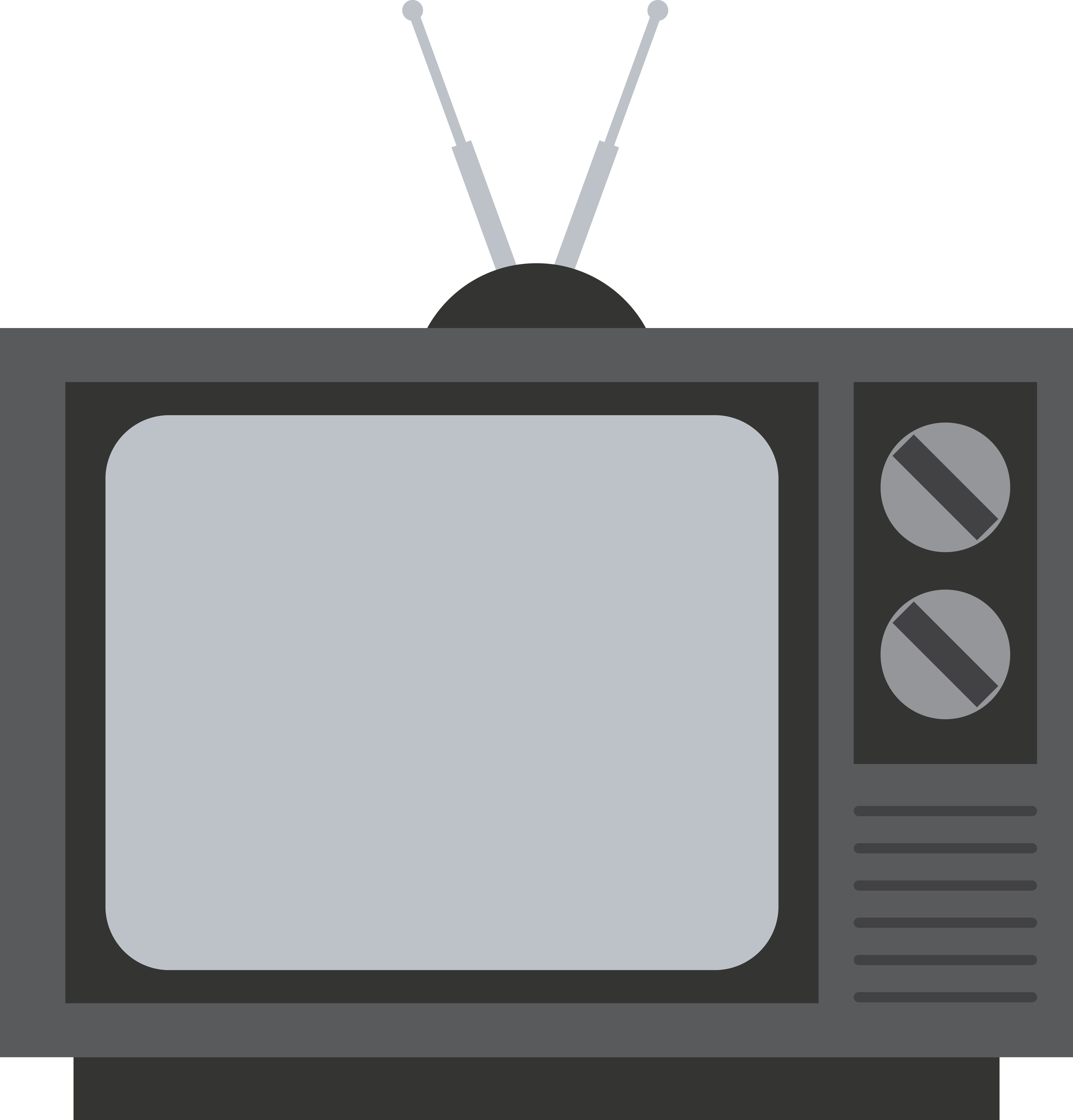 Old Television PNG Image Olds, Black and white, Television