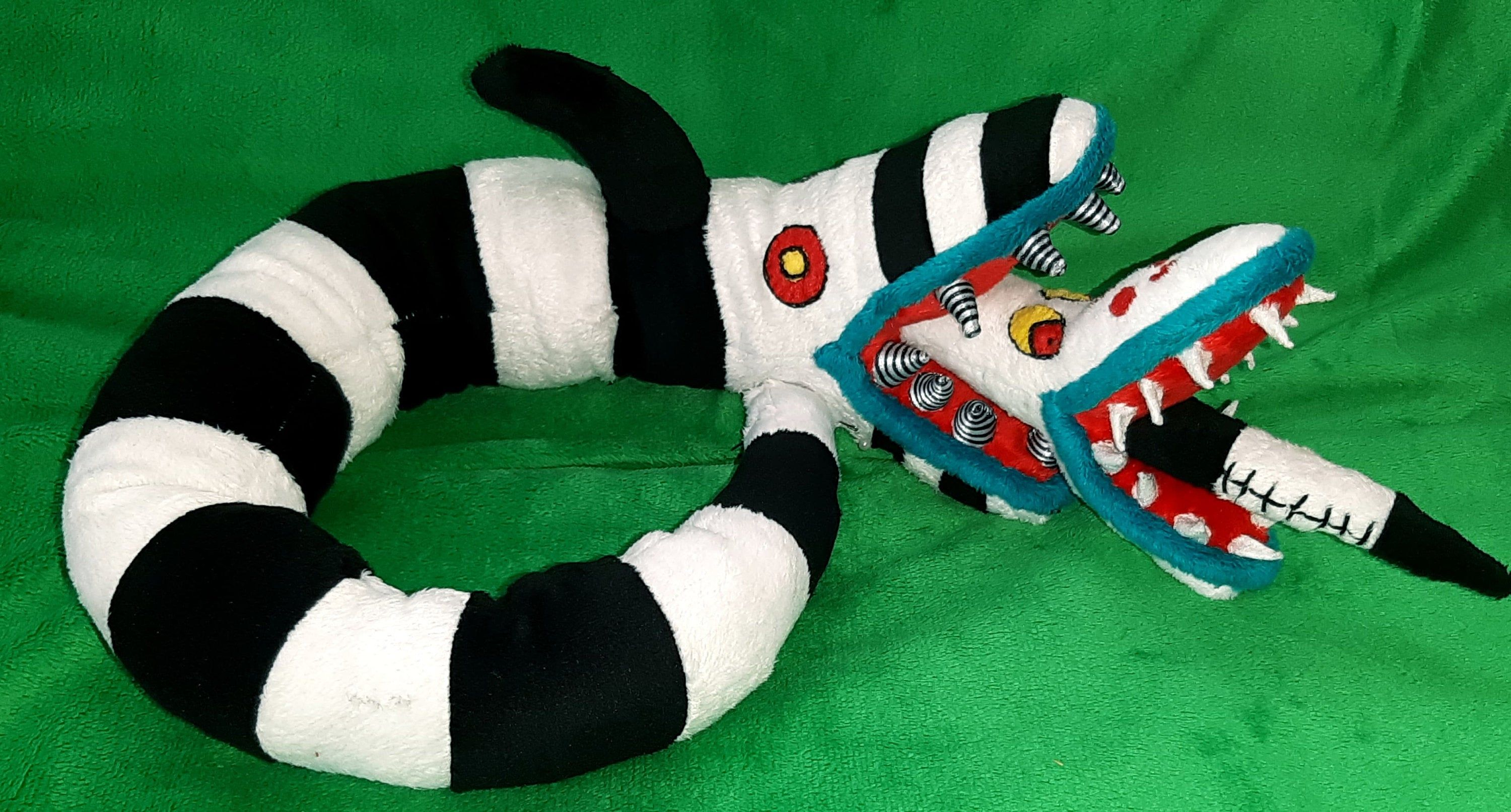 Custom Plush Sandworm Beetlejuice Sandworm Inspired From The Movie Minky 70 Cm Made To Order Beetlejuice Sandworm Beetlejuice Plush