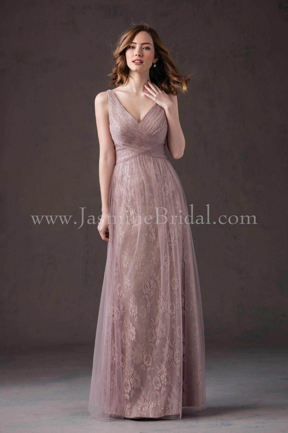 Jasmine Bridal Bridesmaid Dress Belsoie Style L184066 In Sandbar