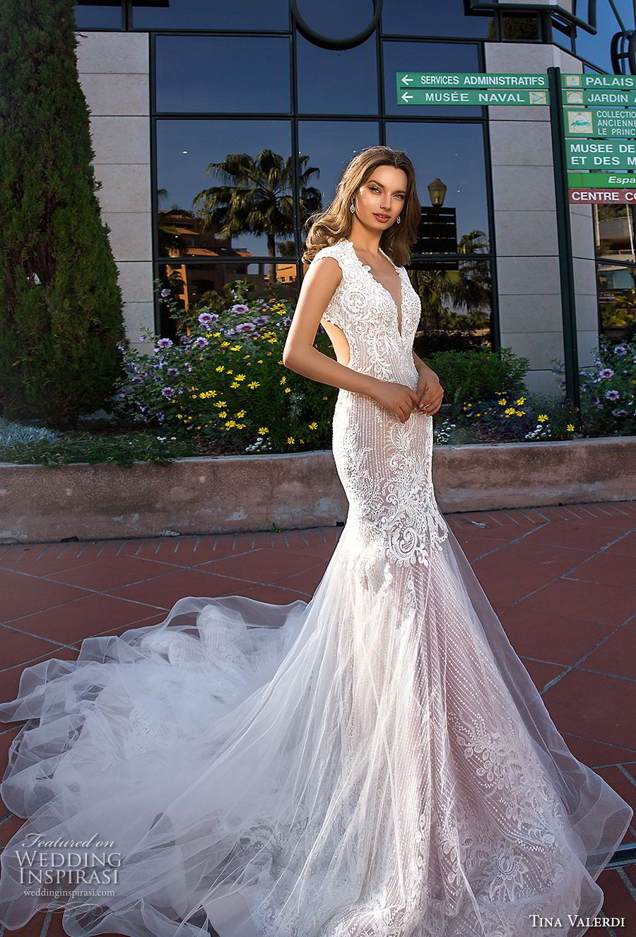 Lace off shoulder wedding dress august 2019 Tina Valerdi  Wedding Dresses u ucIum Yoursud Bridal Collection