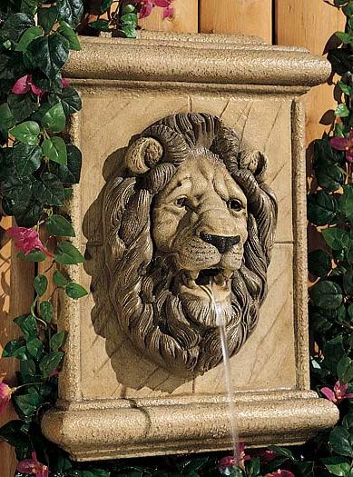 Lion Wall Plaque Garden Water Fountains Tabletop