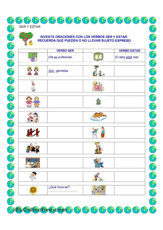El Verbo Ser Y Estar Spanish Lesson Plans Teaching Spanish Spanish Lessons [ 1440 x 1018 Pixel ]