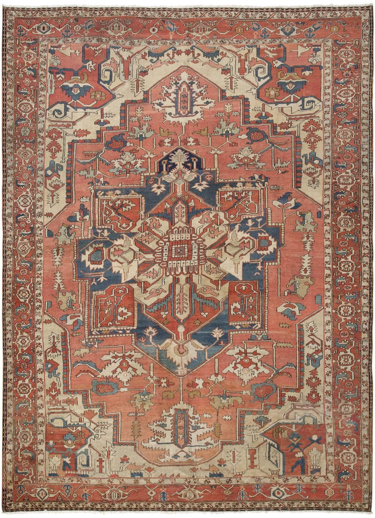 Heriz Serapi Rug Persia Early 20th Century Crafted In The Northwestern Persian District Of Heriz This Remarkable An Rugs Modern Persian Rug Rugs On Carpet