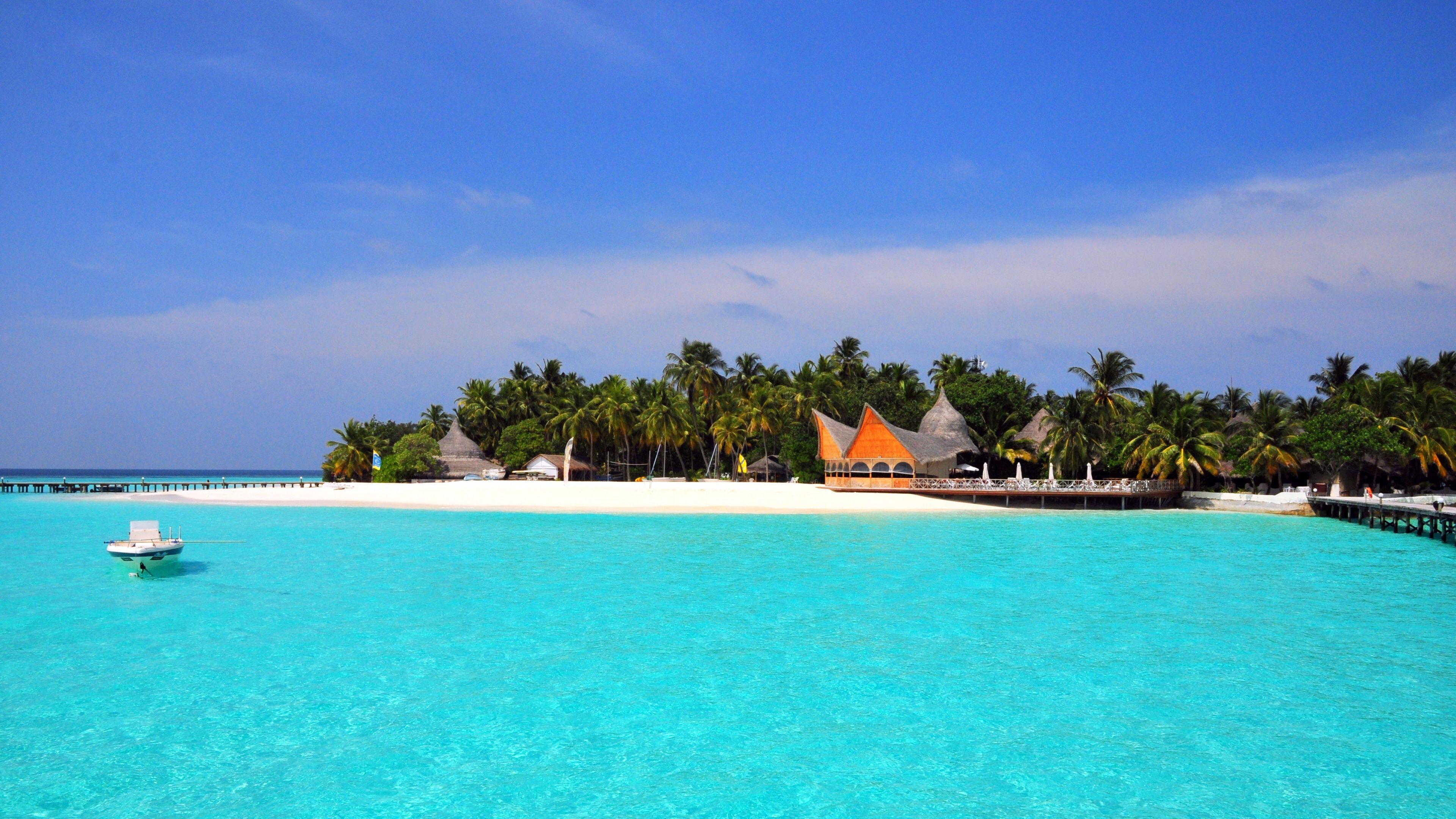 3840x2160 Wallpaper maldives, tropical, beach, island