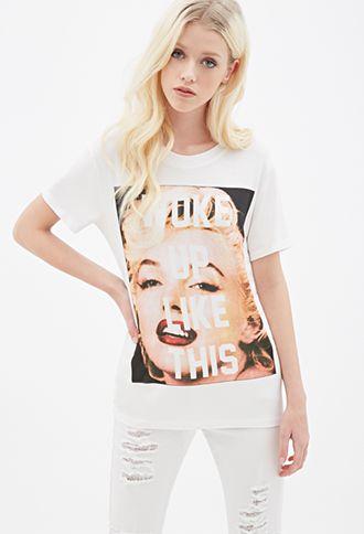 Marilyn Monroe Forever Printed Graphic T-Shirts Fashion Hip Hop Urban Tee