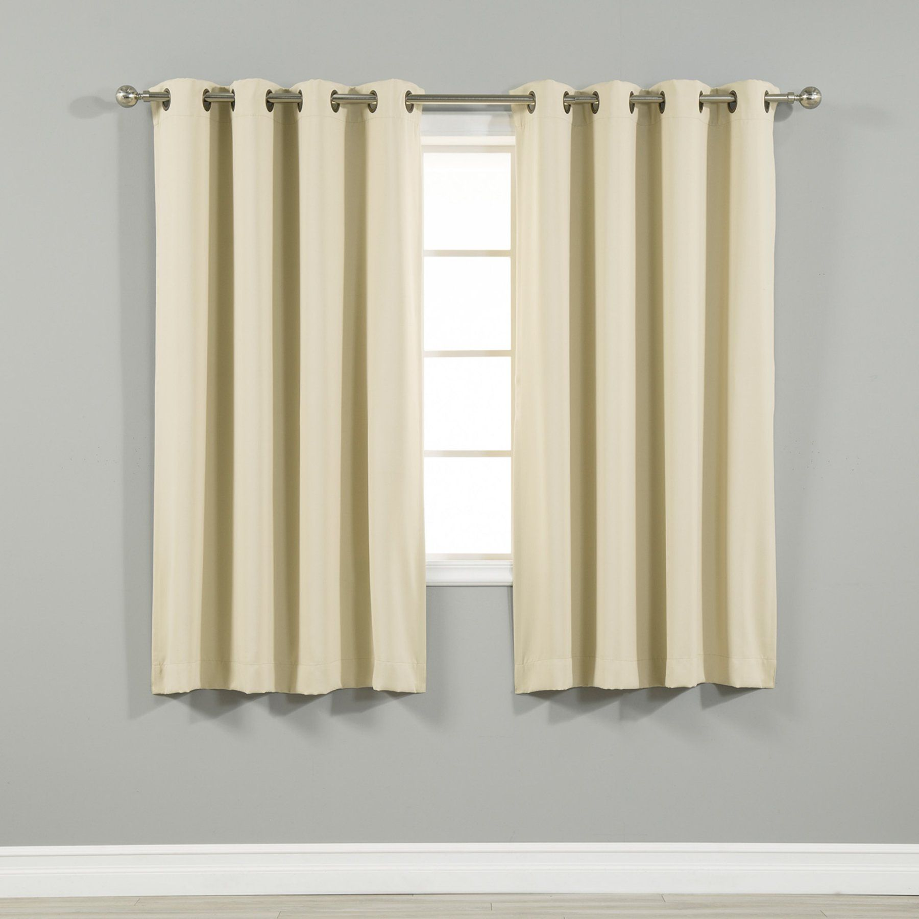 Best Home Fashion Thermal Grommet Blackout Curtain Mauve Grom 84