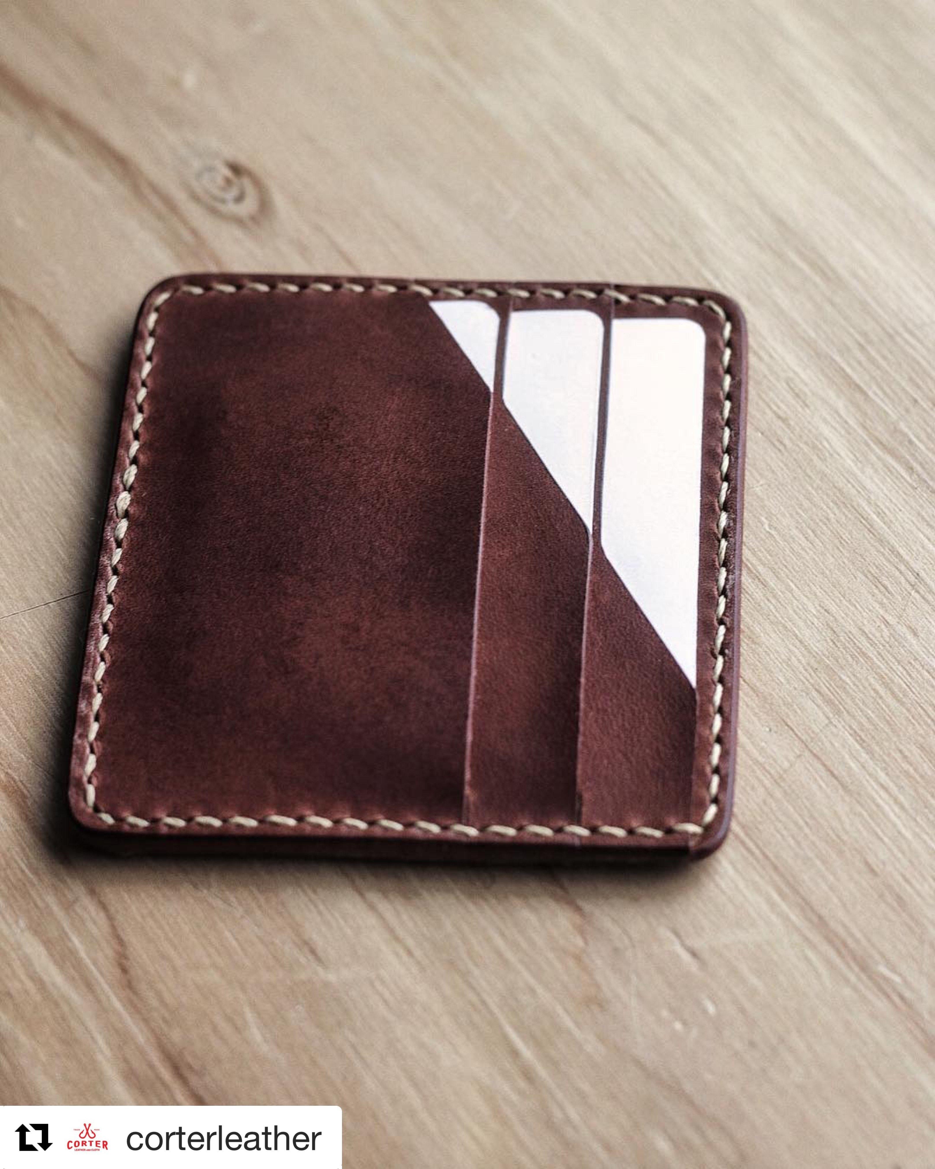 eae39757e Making a leather optical illusion card wallet | YouTube | Card ...