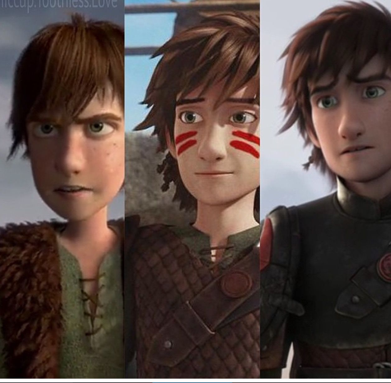 How To Train Your Dragon 2 Hiccup Age Hiccup at ages 15, 18,...
