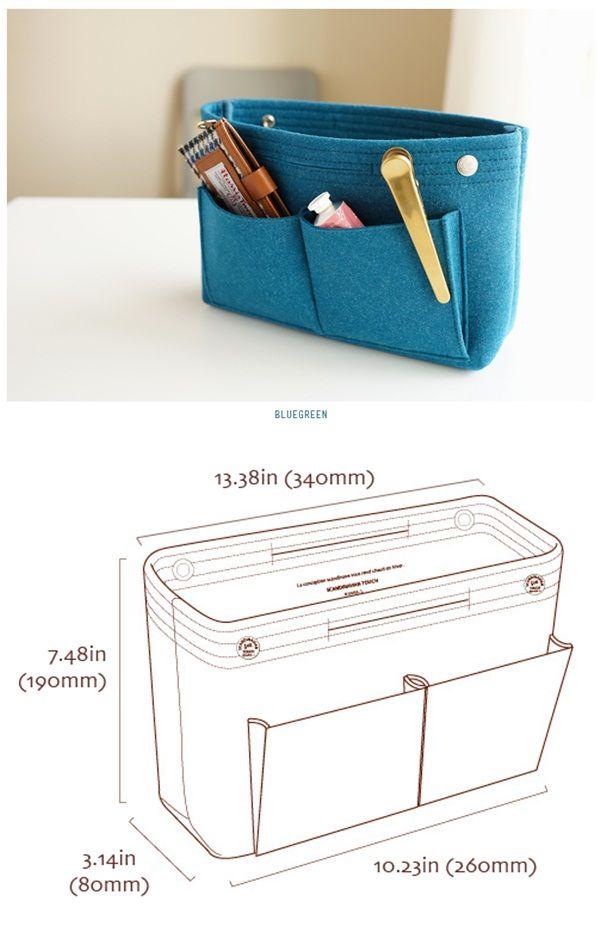 bag organizer | estojos | Pinterest | Nähen, Nadel und Faden und ...