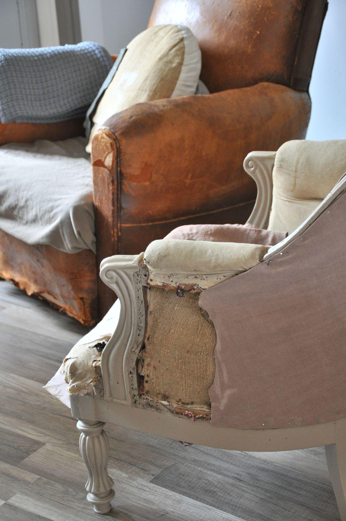 P Ge Blanche N 11 Mobilier De Salon Renover Fauteuil Cuir Fauteuil Retro