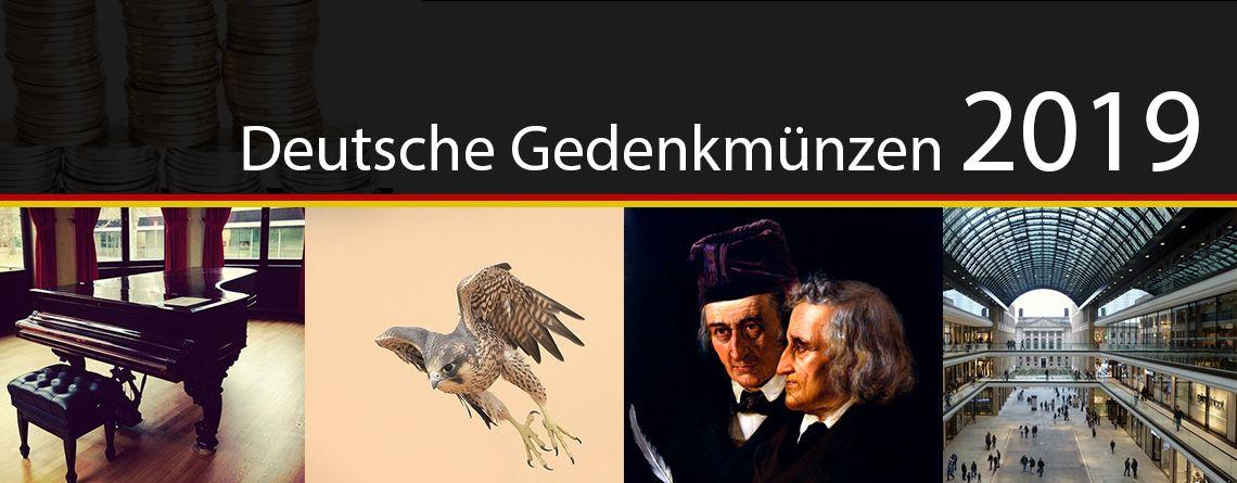 Deutsche Gedenkmünzen 2019 Motive, Informationen, Münzen