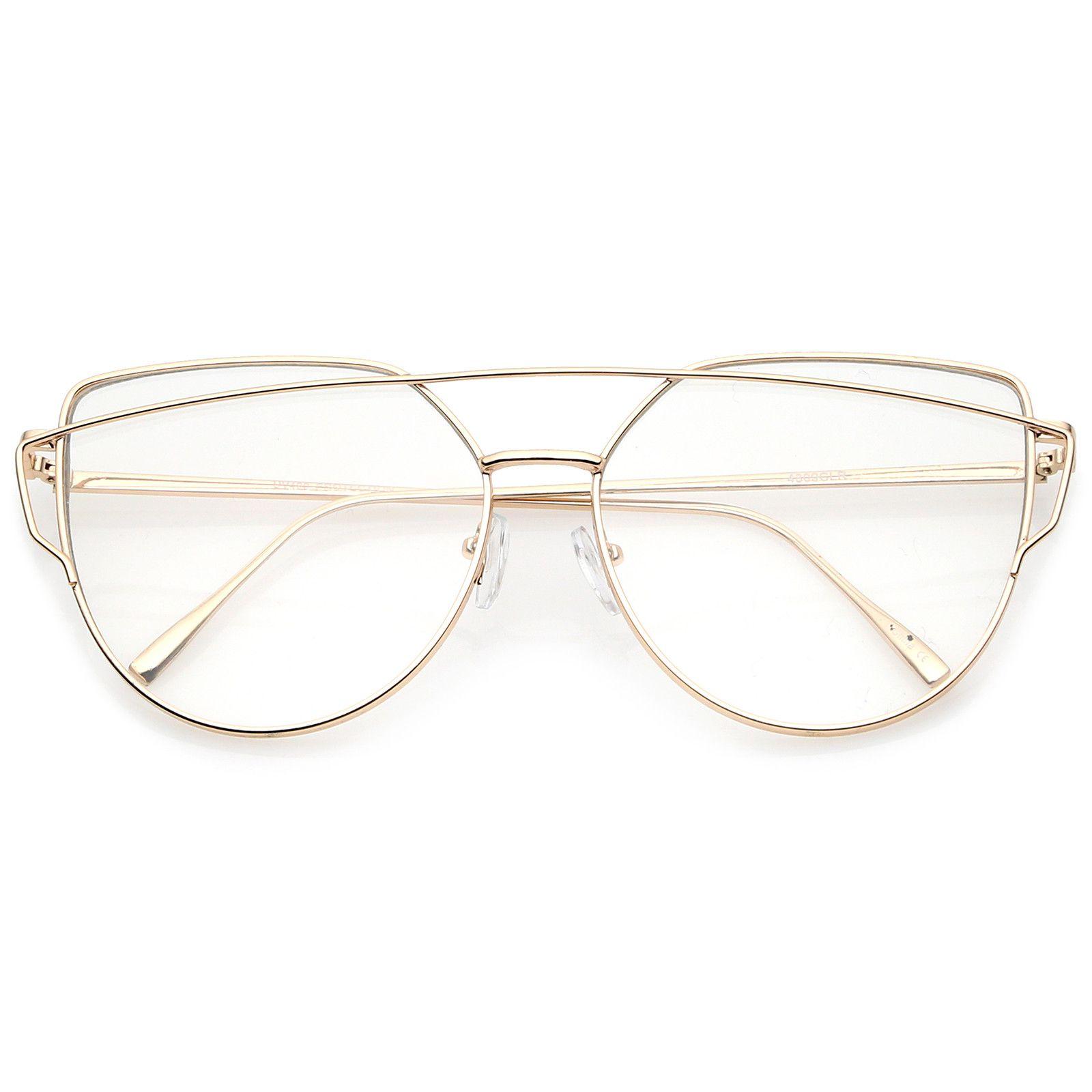 b7b50b28df Oversize Metal Frame Thin Temple Clear Flat Lens Aviator Eyeglasses 62mm   frame  clear  womens  purple  mirrored  sunglasses  sunglass  summer   sunglassla   ...