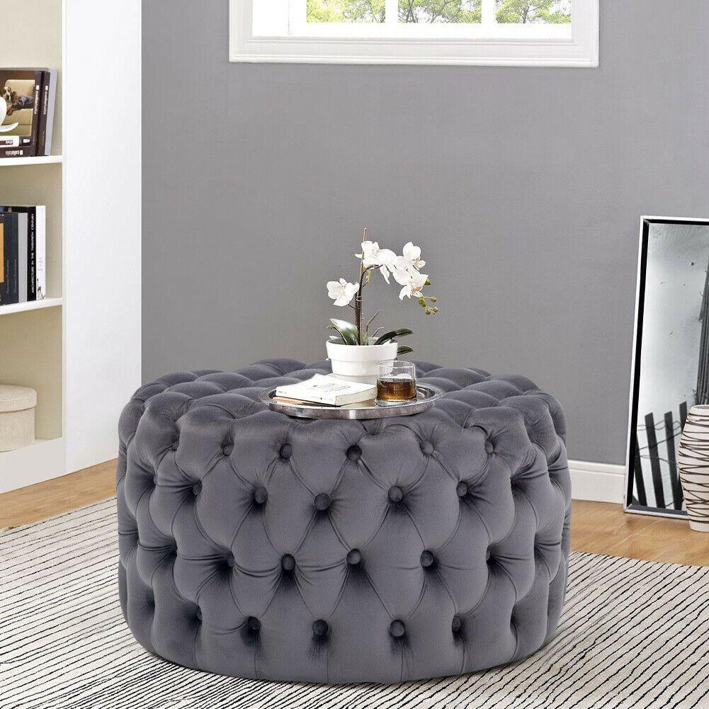 Chesterfield Footstool Grey Footstool Coffee Table Footstool Chesterfield [ 1001 x 1001 Pixel ]