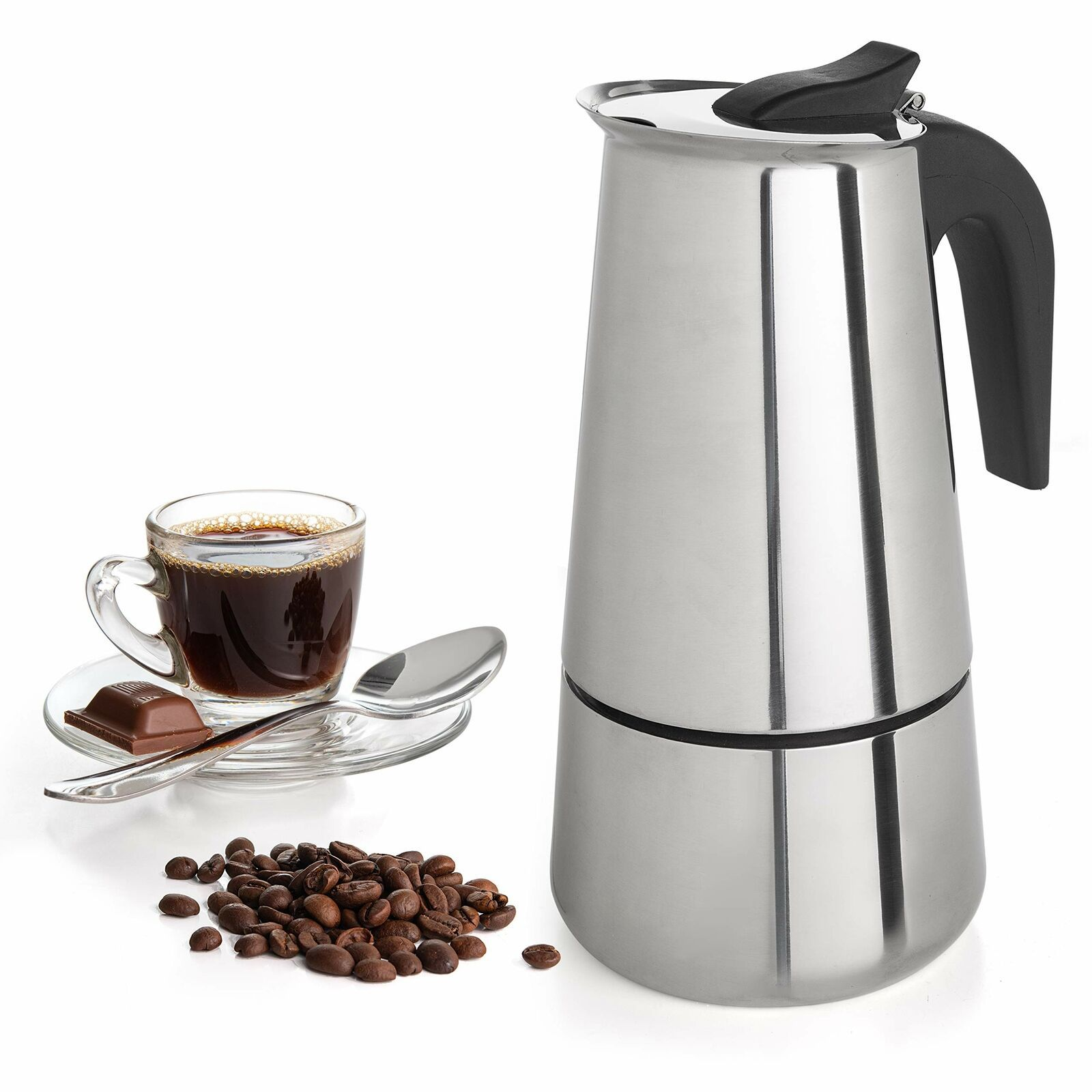 Details about 6 Cup Coffee Maker Stovetop Espresso Coffee