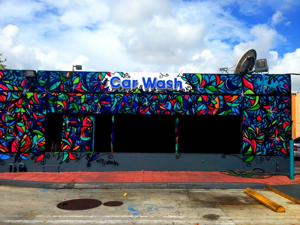 Photo of coral gate mobil miami fl united states car for Enjoy detroit mural