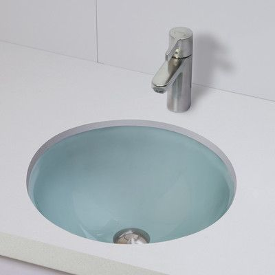 Decolav Translucence Round 12mm Glass Undermount Bathroom Sink