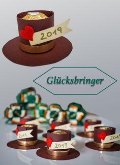 Süße Glücksbringer aus Ferrero Rocher - super einfach und schnell gebastelt! #silvester #neujahr #glücksbringer #goodluck #newyearseve