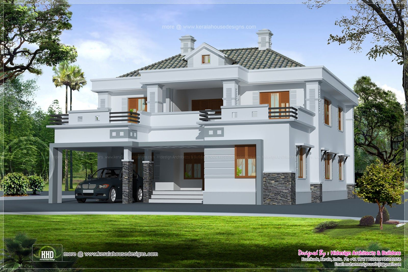 Small house plan house floor plans modern double storey for Dream home kerala