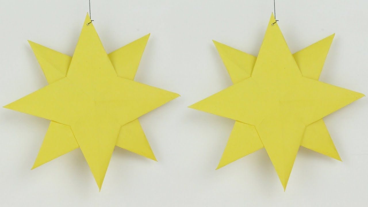 Origami Star for Wall Decoration Living Room with Paper Star Easy ...