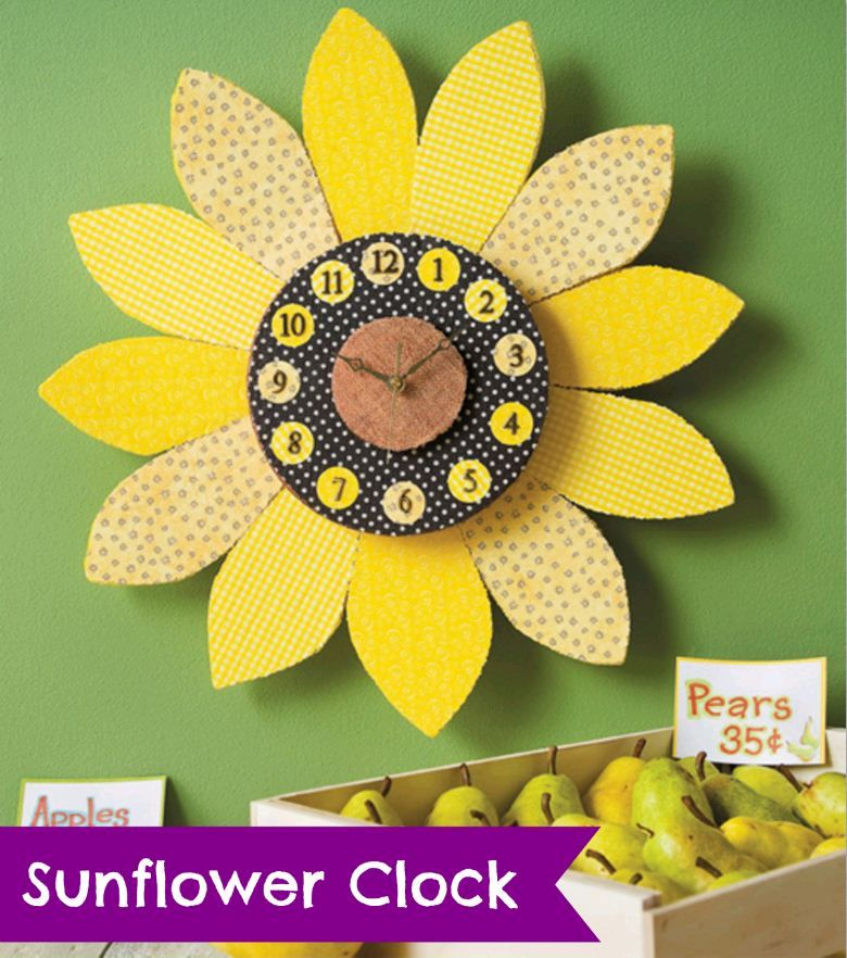 Lovely Sunflower Clock   Super Cute For The Store!