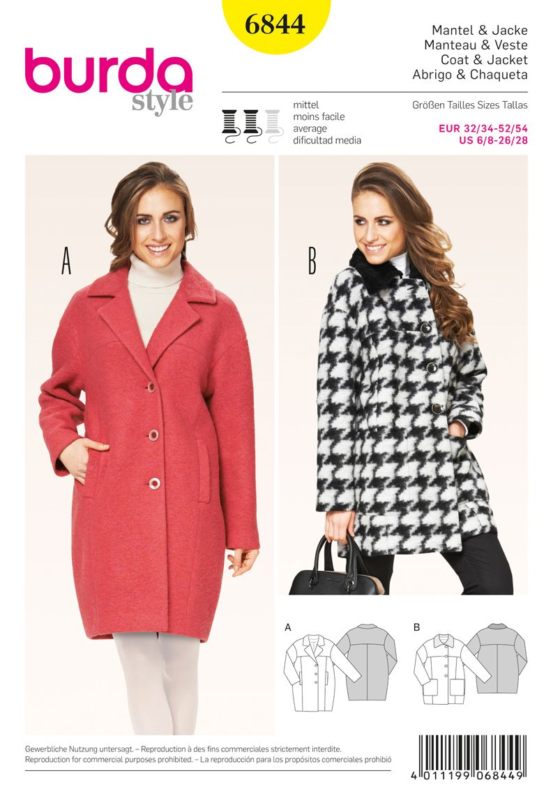 Oversized Coat Pattern | Simplicity Creative Group - Burda Style ...