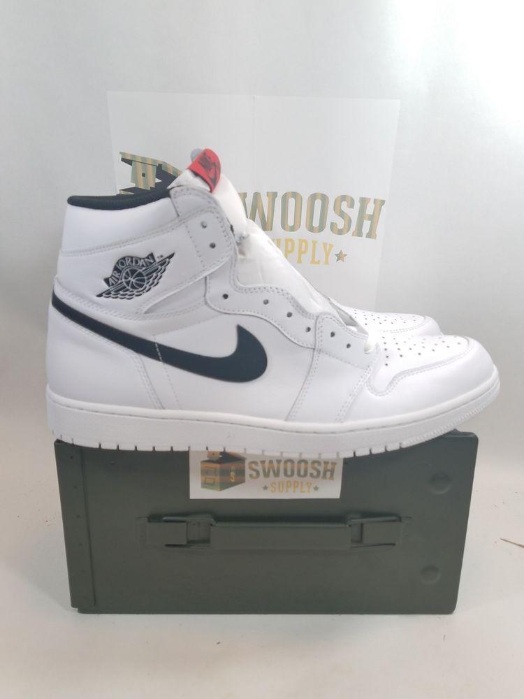 fc1db962f51399 Nike Air Jordan 1 Retro High OG Ying Yang White Black Red 555088 102 Men s  sz 8  Nike  AthleticSneakers