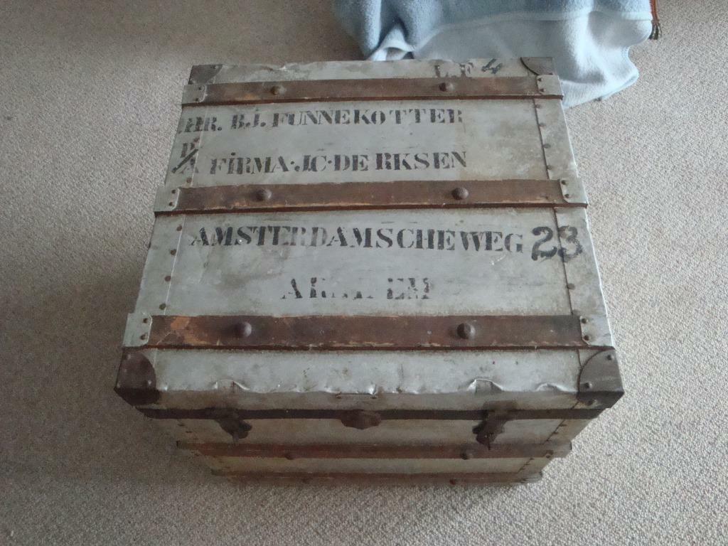 Aluminium Leger Kist.Dekenkist Aluminium Vintage Curiosa Brocante Retro Design
