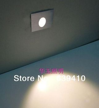 New Design Led Stair Lights 90 240v 1w 80 80mm Wall Mounted Wall Light Aluminum Step Lamp Footlights Free Shipping Led Stair Lights Stair Lights Led Wall Lamp